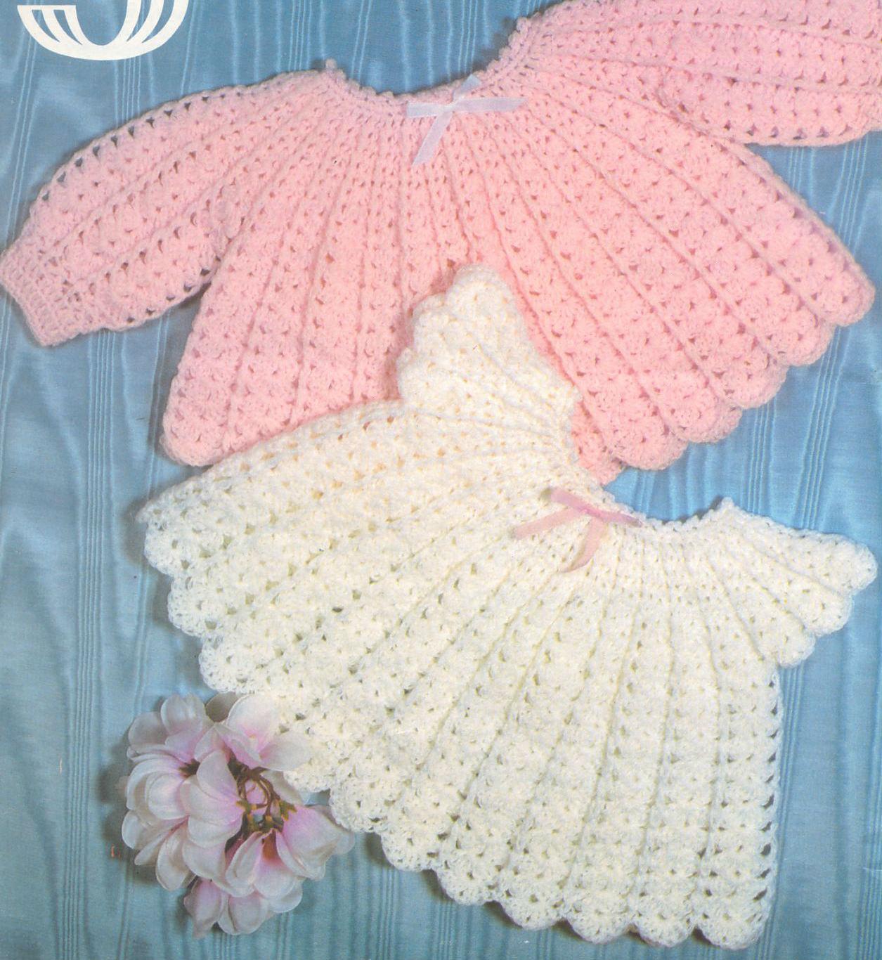 Crochet Baby Angel Tops Pattern Baby Dress Sweater