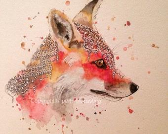 Boho Fox Watercolour
