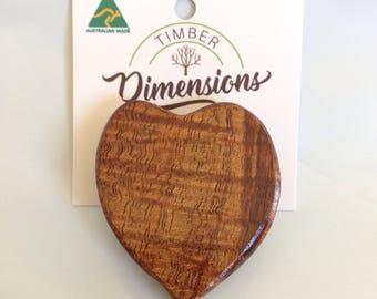 Brooch  Figured Tasmanian Blackwood Unique