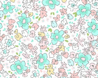 Meadow in spring from the Best of Sarah Jane fabric collection for Michael Miller Fabrics
