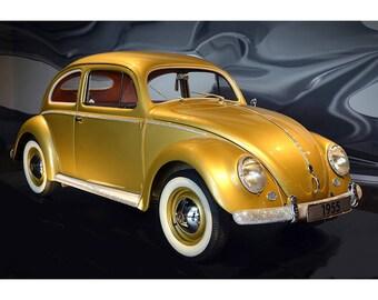 1,000,000th Volkswagen Beetle Bug - Car Poster Print - Classic Car Photo Art