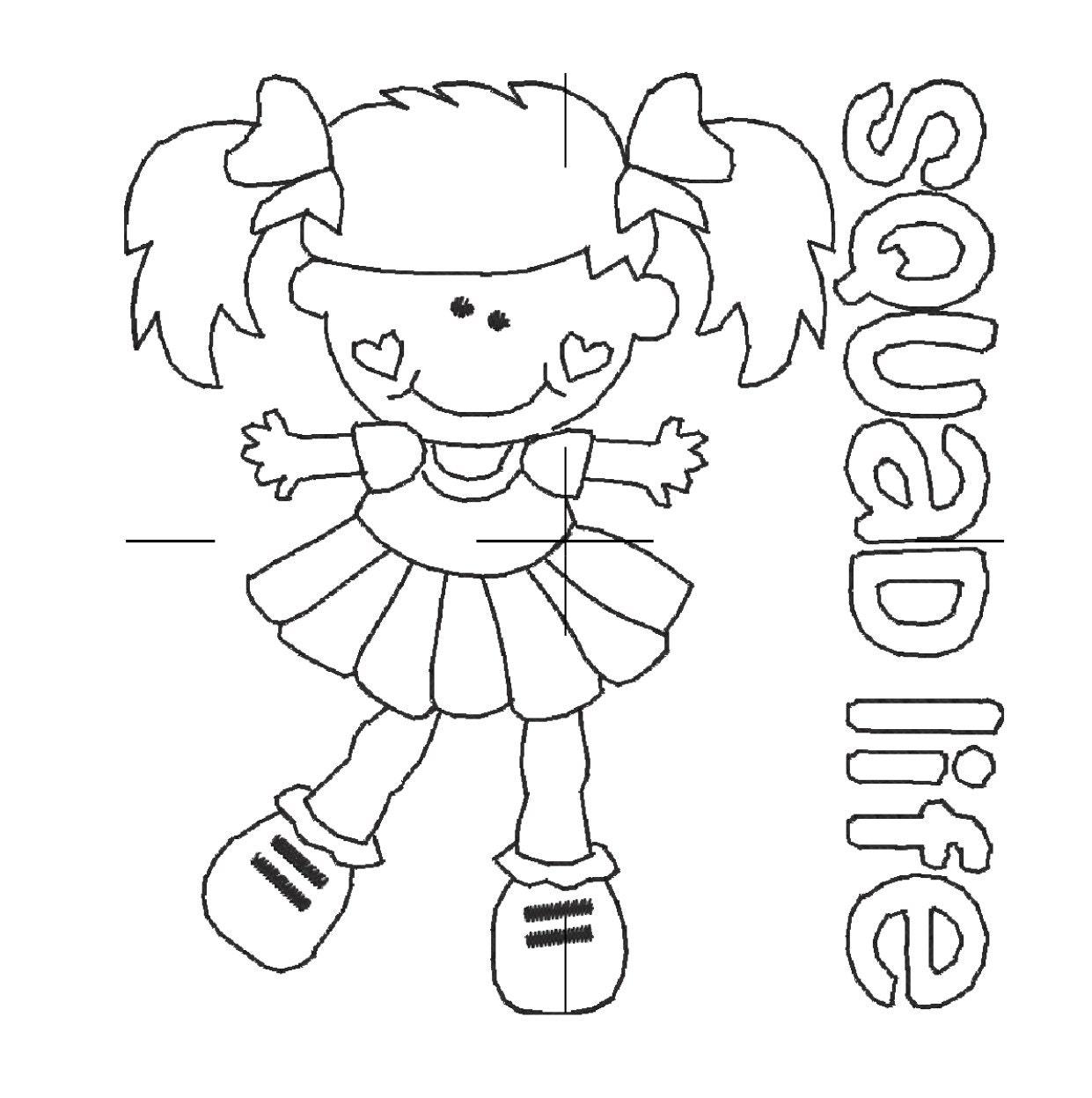 Encantador Animadora Para Colorear Páginas Para Imprimir Ilustración ...