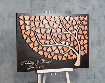 Wedding guest book alternative custom 3D wedding guestbook wedding sign in book alternative rustic wedding guest book wood guest book sign