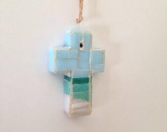Gulf Coast Mosaic Wall Cross or Christmas Ornament II
