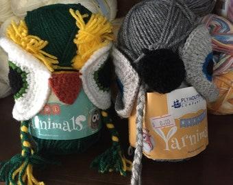 Yarnimals Knit or Crochet Hat Kit in Monkey or Owl