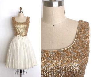 vintage 1950s dress | 50s sparkle party dress