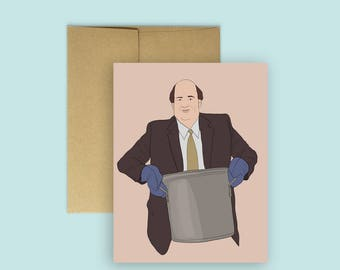 """The Office """"Kevin's Famous Chili """" Funny Card -- (Cards for Any Occasion, The Office TV, Humor Card)"""