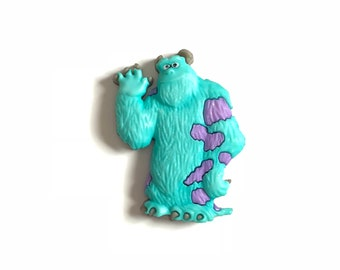Sully Pin, Sully Badge, Sully Tie tack, Sully Brooch, Monsters Inc., Sully Backpack Buddy, Sully Hat Pin, Mike and Sully