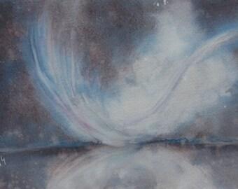 Original Watercolour: feather, feather