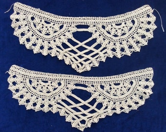 Pair of vintage crochet pieces for ends of dresser scarf