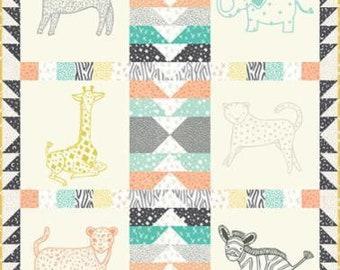 "Savannah Children's Novelty Quilt Kit by Gingiber for Moda Fabrics #KIT48220 Finished Size: 42"" X 50"" - 100% Cotton"