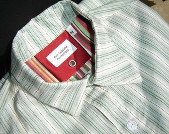 Mens button up shirt -The Outsider (Unconventional, deviated) collar