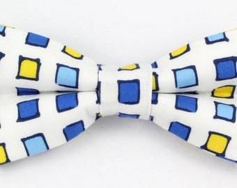square patterned bow tie