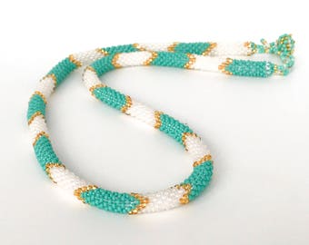 Handwoven Beaded Necklace