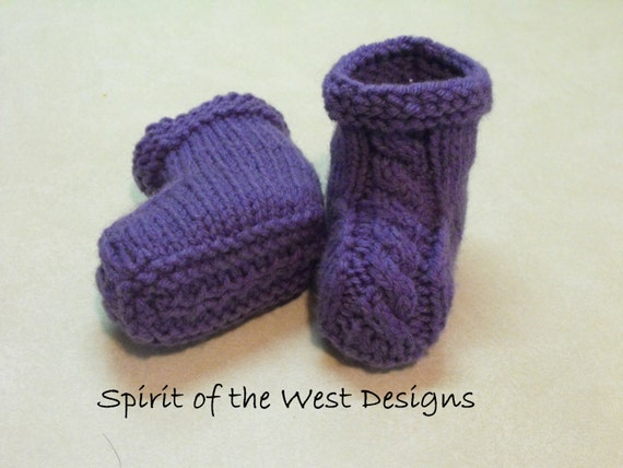 Knit Baby Booties Pattern, Knitted Booties, Baby boy, baby girl ...