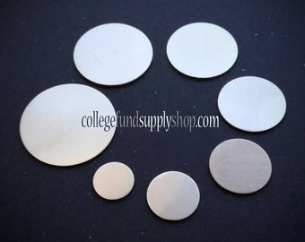 """1 1/4"""" pewter stamping blank 18g. sold in SETS OF 3,  1 1/4"""" round disc, jewelry supply, disc for etching, metal supply shop, hand stamping"""