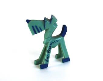 Vintage 1950's San Francisco Souvenir Plastic Scotty Dog Figurine! Cool!