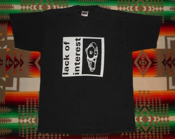 90s Lack Of Intrest T Shirt Size XL Infest Powerviolence Spazz Carles Bronson No Comment Crossed Out Despise You Hardcore Punk Rock