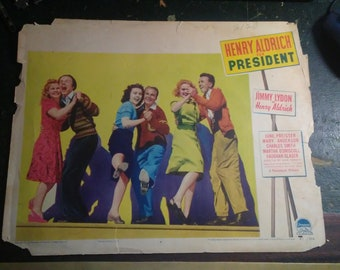 Vintage 1941 Henry Aldrich for President Paramount lobby Display Numbered