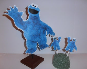 Sesame Street Cookie Monster 10.5 inches double sided Centerpiece