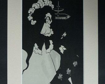 Aubrey Beardsley Print, Edwardian Erotic Decor, Available Framed, Topless Art, Erotica Gift, Aesthetic Wall Art, Messalina and her Companion