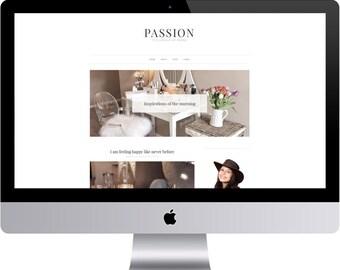 SALE Passion - Minimal Blogger Template Responsive Design Custom Blogger Design Responsive Blogger template Blogger theme premade