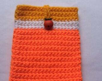 Orange Crochet Case/Mobile Cozy