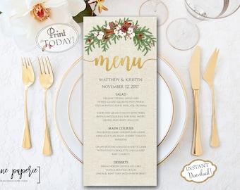 christmas menu templates