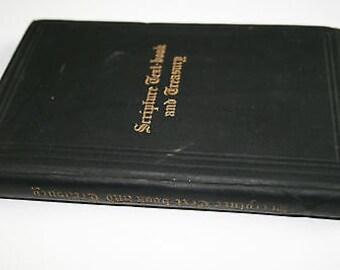 Antique Scripture Text Book & Treasury - 1901