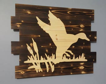 Duck Hunting, Waterfowl, Hunting, Outdoors, Wooden Wall Art