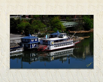 Paddle Boat Photo, Star of Knoxville, Knoxville Water Front Photography, Tennessee River Photo, Commercial Photography FIne Art Photography