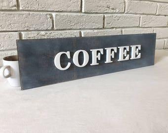 COFFEE corner rustic decoration, COFFEE rustic sign decor , coffee bar decoration, kitchen decoration, tea and coffee bar
