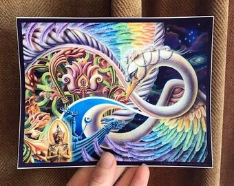 Vinyl Stickers - Once I Meta Swan by Ishka Lha