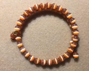 Illusion beaded memory wire bracelet