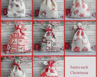 Santa Sack Scandinavian Christmas Gift Bag Reindeer Personalized Christmas Sack Kids santa sack Swedish Christmas Blank santa sacks