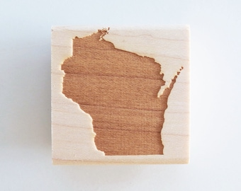 Wisconsin State Rubber Stamp
