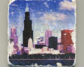 Chicago Color Skyline Original Coaster