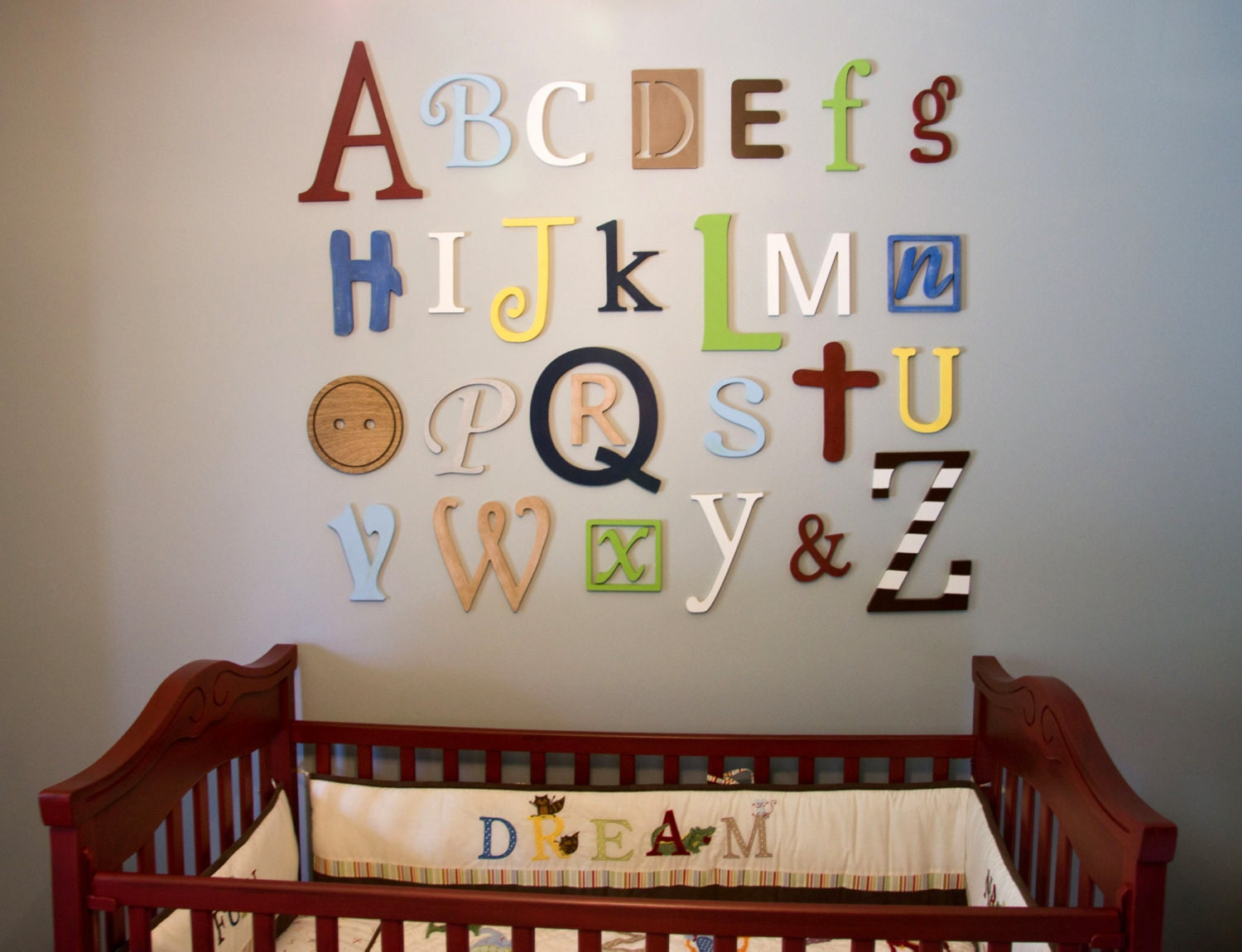 Alphabet Letters For Wall Impressive Wooden Alphabet Letters Set Nursery Decor Wall Letters Review