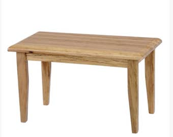 Dollhouse Miniature Oak Kitchen Table