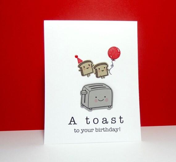 birthday card birthday toast card funny birthday greeting