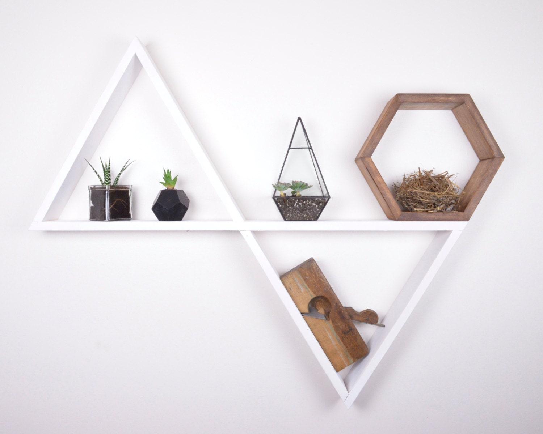 Double Triangle Shelf Nursery Decor Display Shelves Home