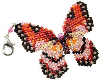 Japanese Toho seedbeads Jewelry Kit, Beaded Butterfly Jewelry Kit, Jewerly Kits, Beading Kits, Beaded Butterfly Kit