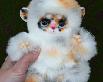 mulf, art doll, Fantasy Creature, OOAK, poseable toy