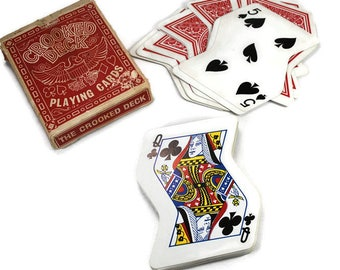 Vintage Crooked Deck Playing Cards, 1969 Playing Cards, 1960's Toys and Games,  A.Freed Novelty INC.,New York