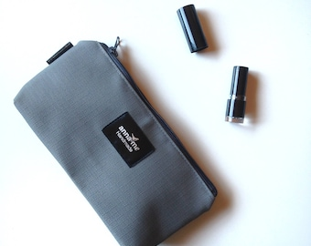 Dark Grey Makeup Pouch, Small Bag with Zipper, Small waterproof bag for Cosmetics, Travel Pouch for Makeup, Pretty Gift, Accessories Bag