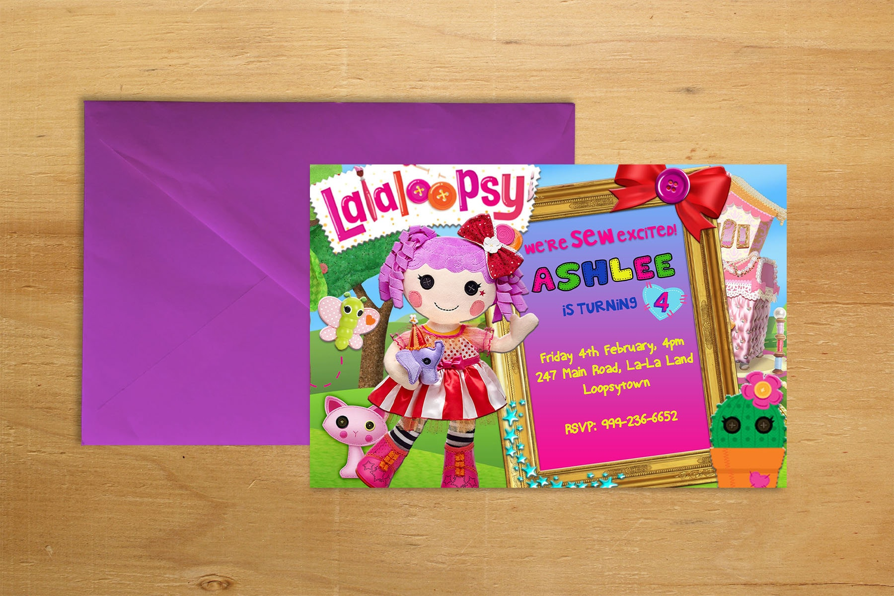 Free Customizable Invitation For Lalaloopsy t chart examples
