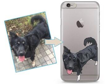 Custom illustrated Dog iPhone Case, Hand Drawn Dogs iPhone Case, Image illustration, Iphone 6s case, iPhone 7 case, iPhone 7 plus case