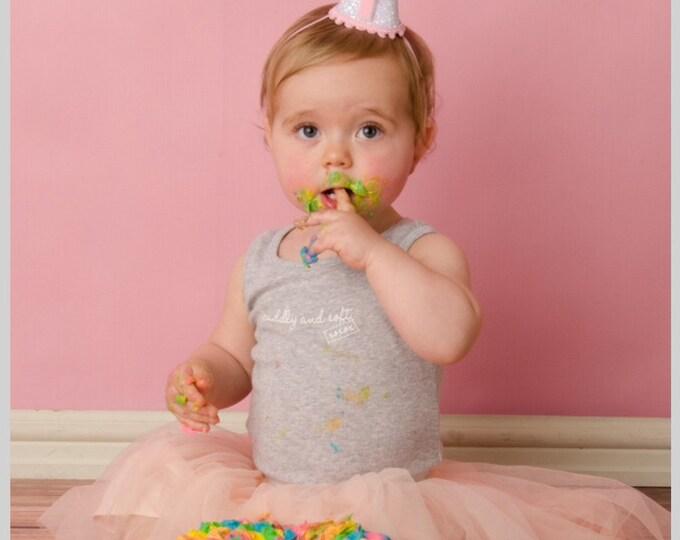 Ready To Ship Mini Glittery Birthday Girl Party Hat   Birthday   Cake Smash   1st Birthday   Baby Birthday