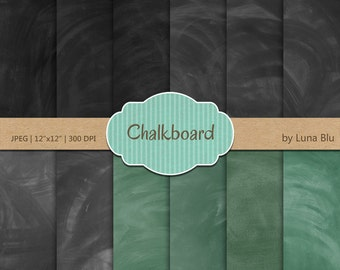 "Chalkboard Digital Paper: ""Real Chalkboard Background"" digital chalkboard textures for invites, scrapbooking, cardmaking, crafts"