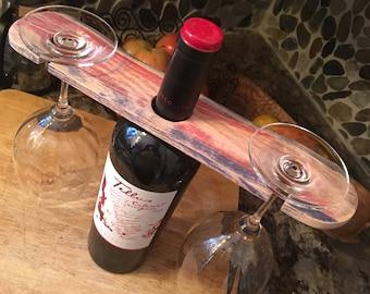 Reclaimed Wabi Sabi Wine Glass Carriage